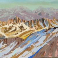 28 x 48 oil on linen or Palisades Glacier