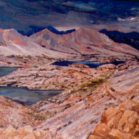 Bishop Pass oil on linnen 28 x 48 sold