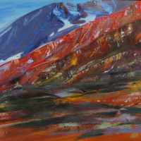 red alluvial oil on canvas 28 x 48